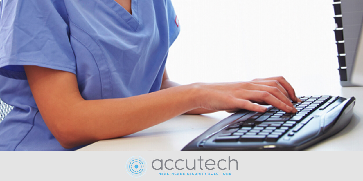 Nurse on computer
